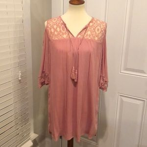 NWT Heartloom pink cold shoulder dress size small